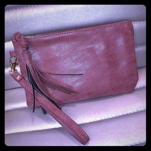 Leather Clutch With Charging Station